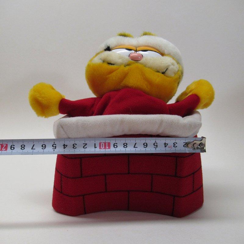 ガーフィールド DAKIN社 1980年代 クリスマス サンタと煙突プラッシュ パペット【画像10】