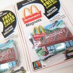 マグネット  マクドナルド 1998年 立体ソフビマグネット&クーポン付き レストラン 未使用