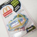 マグネット  マクドナルド 1998年 立体ソフビマグネット&クーポン付き ファーストマクドナルド 未使用