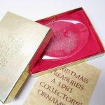 ツリーにつけるオーナメント  クリスマスオーナメント 1981年アクリル製オーナメント キャンドル オリジナル袋&箱付