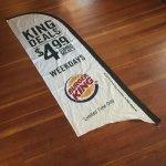バーガーキング 2013年 $4.99 Combo Meal のぼり旗