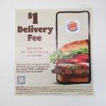バーガーキング広告 $1 Delivery Fee