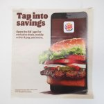 バーガーキング広告 Tap into savings