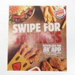 バーガーキング広告 Swipe for savings
