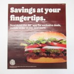 バーガーキング広告 Savings at your fingertips