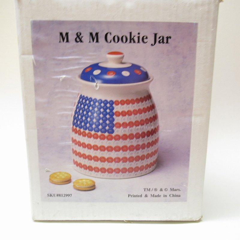 エムアンドエムズ M&Ms アメリカンフラッグ クッキージャー 箱付き【画像2】