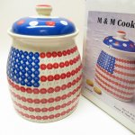 キッチン  エムアンドエムズ M&Ms アメリカンフラッグ クッキージャー 箱付き