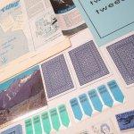 チケット、スコアパッドなどの紙物・紙モノ雑貨  紙ものセット ブルー A
