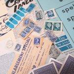 チケット、スコアパッドなどの紙物・紙モノ雑貨  紙ものセット ブルー B