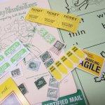 チケット、スコアパッドなどの紙物・紙モノ雑貨  紙ものセット グリーン&イエロー B