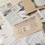 チケット、スコアパッドなどの紙物・紙モノ雑貨  紙ものセット ブラック&ホワイト A