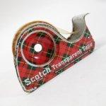 その他  アメリカンヴィンテージ ブリキ製 スコッチテープ ディスペンサー付き