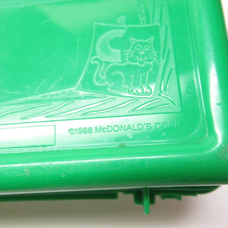 マクドナルド 1988年ランチボックス 緑 シール付 A【画像23】