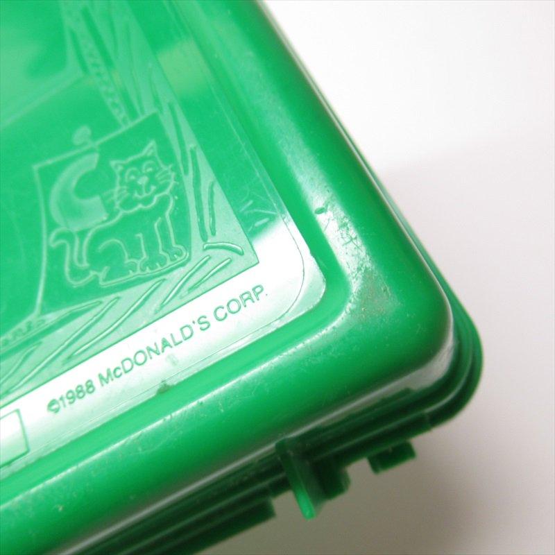 マクドナルド 1988年ランチボックス 緑 シール付 A【画像31】