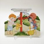 使用済  バレンタイン ヴィンテージカード Lovers Lane