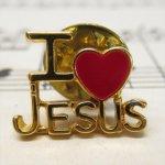 バレンタイン  ヴィンテージピンズ I LOVE JESUS