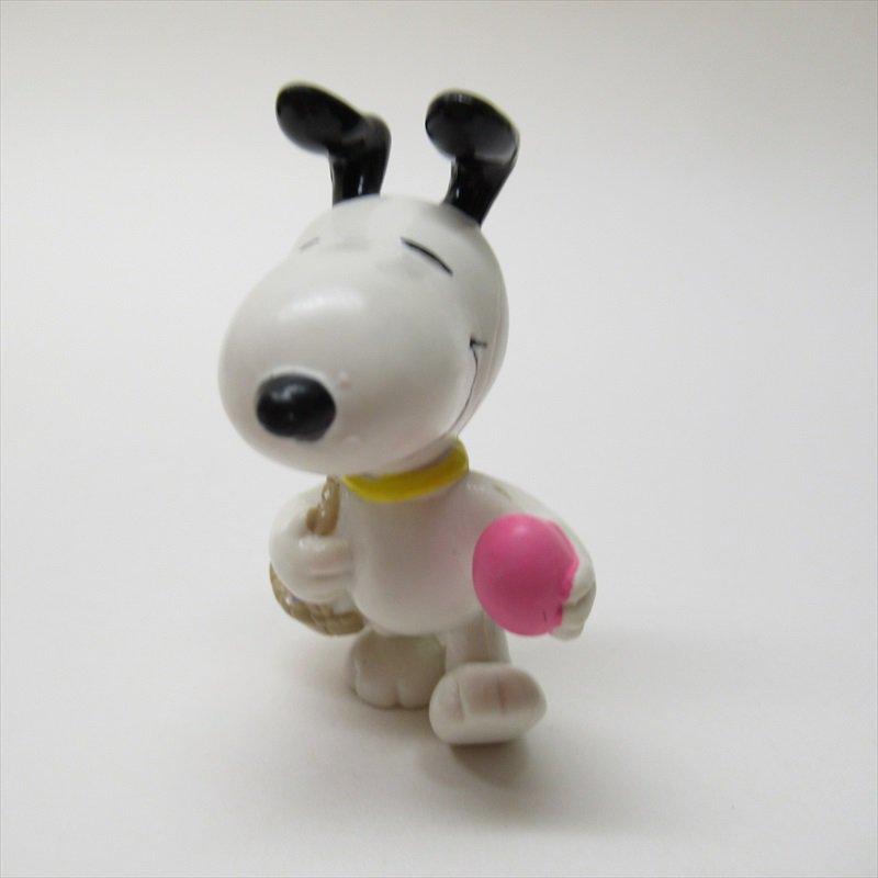 スヌーピー ホイットマン PVC製 イースター ピンクエッグとイースターバスケット フィギュアトイ B【画像2】