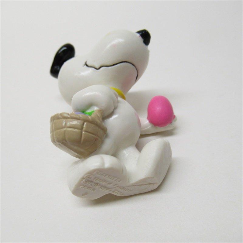 スヌーピー ホイットマン PVC製 イースター ピンクエッグとイースターバスケット フィギュアトイ B【画像6】