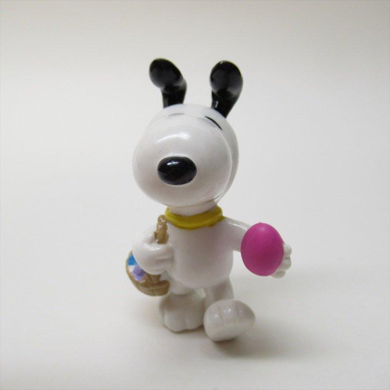 スヌーピー ホイットマン PVC製 イースター ピンクエッグとイースターバスケット フィギュアトイ C【画像2】