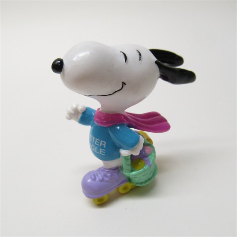 スヌーピー ホイットマン PVC製 イースター Easter Beagle ローラースケート フィギュアトイ C