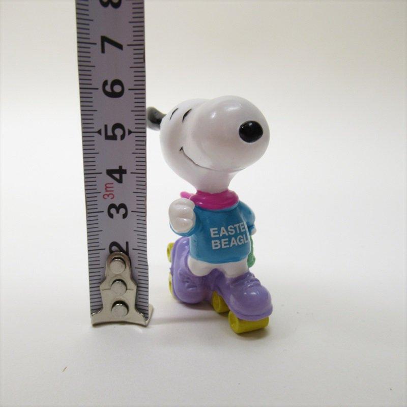 スヌーピー ホイットマン PVC製 イースター Easter Beagle ローラースケート フィギュアトイ D【画像8】