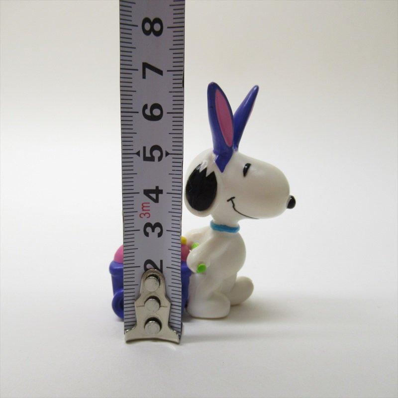 スヌーピー ホイットマン PVC製 イースター 紫のうさみみと紫のカート フィギュアトイ A【画像7】