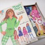 パッケージ&パッケージに味のある雑貨&チーズボックスなど  ヴィンテージトイ Magic Mary Ann 紙製マグネット付き着せ替え人形セット ボックス付き