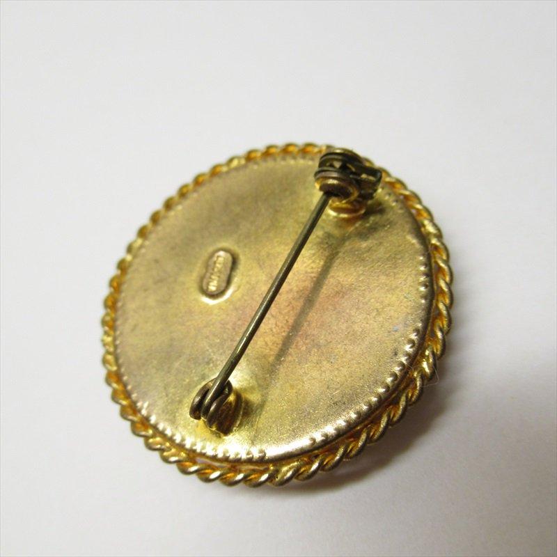 ヴィンテージアクセサリー オーストリア製スミレの刺繍ブローチ【画像4】