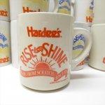 ハーディーズ 1993年 ライズ&シャイン オレンジロゴ ブレックファースト用マグ デッドストック