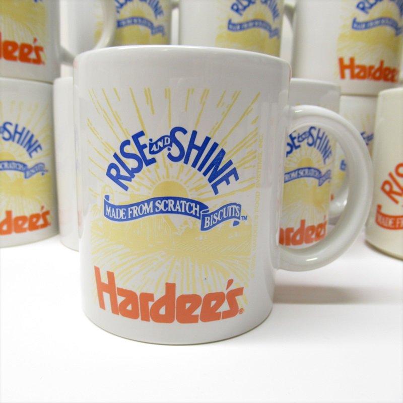 ハーディーズ 1993年 ライズ&シャイン 3色ロゴ ブレックファースト用マグ デッドストック A
