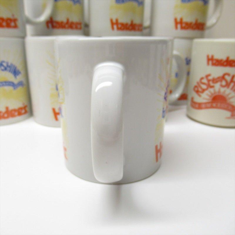 ハーディーズ 1993年 ライズ&シャイン 3色ロゴ ブレックファースト用マグ デッドストック A【画像2】