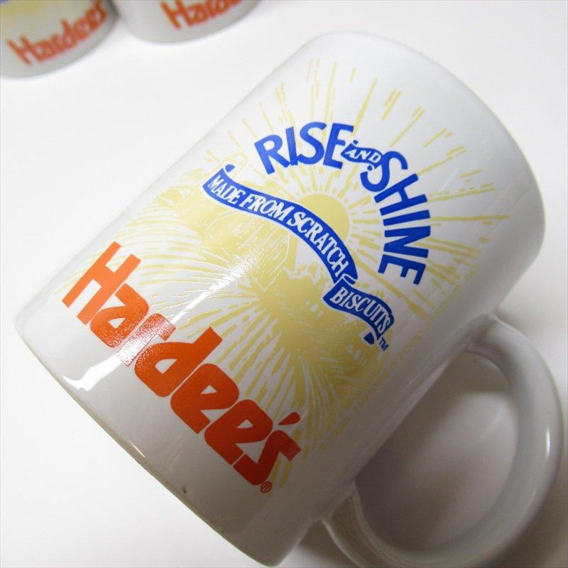 ハーディーズ 1993年 ライズ&シャイン 3色ロゴ ブレックファースト用マグ デッドストック A【画像14】