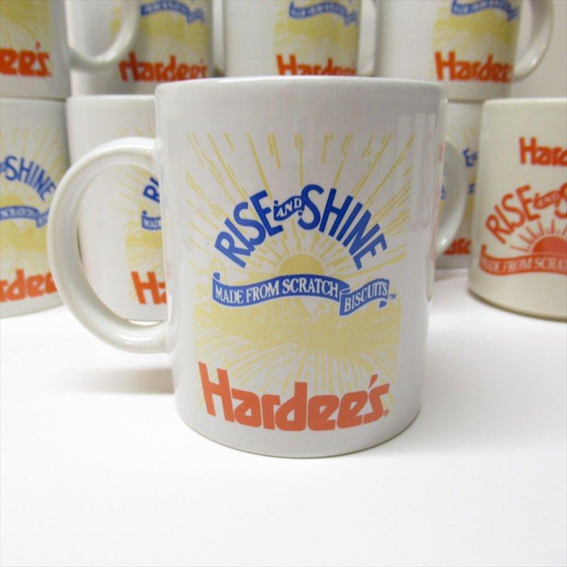 ハーディーズ 1993年 ライズ&シャイン 3色ロゴ ブレックファースト用マグ デッドストック A【画像3】