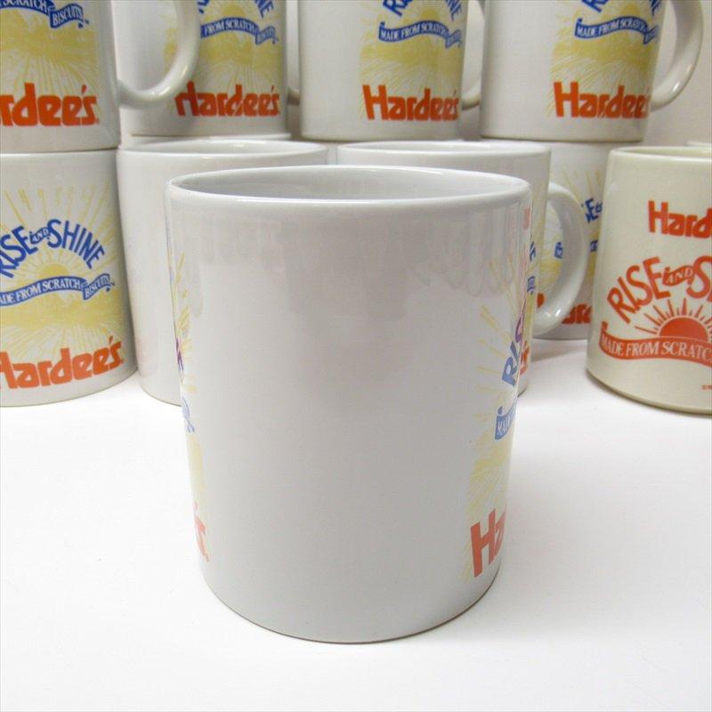 ハーディーズ 1993年 ライズ&シャイン 3色ロゴ ブレックファースト用マグ デッドストック A【画像4】