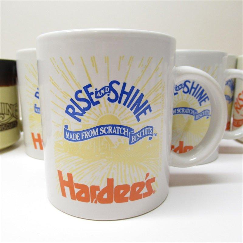 ハーディーズ 1993年 ライズ&シャイン 3色ロゴ ブレックファースト用マグ デッドストック B