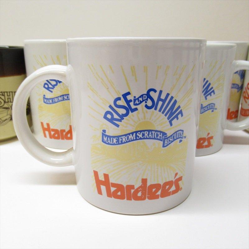 ハーディーズ 1993年 ライズ&シャイン 3色ロゴ ブレックファースト用マグ デッドストック B【画像3】