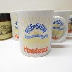 ハーディーズ 1993年 ライズ&シャイン 3色ロゴ ブレックファースト用マグ デッドストック C