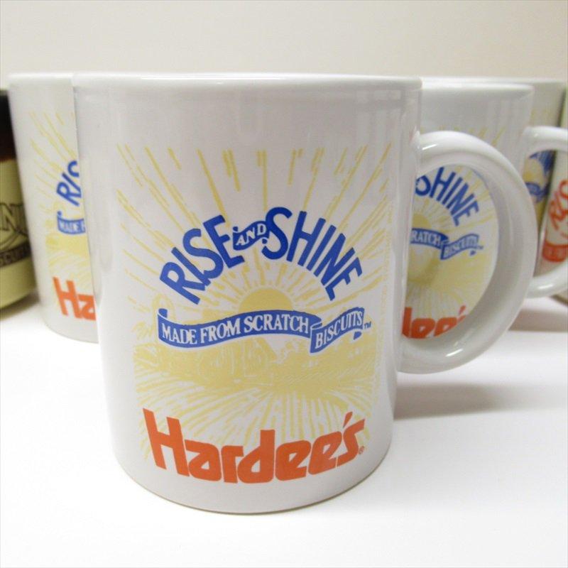 ハーディーズ 1993年 ライズ&シャイン 3色ロゴ ブレックファースト用マグ デッドストック D