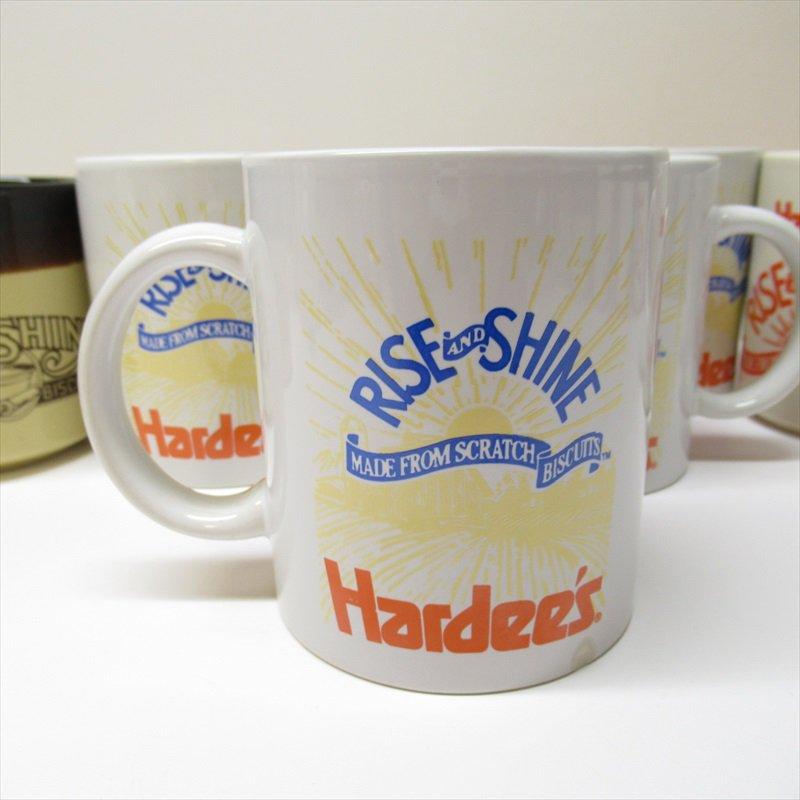 ハーディーズ 1993年 ライズ&シャイン 3色ロゴ ブレックファースト用マグ デッドストック D【画像3】
