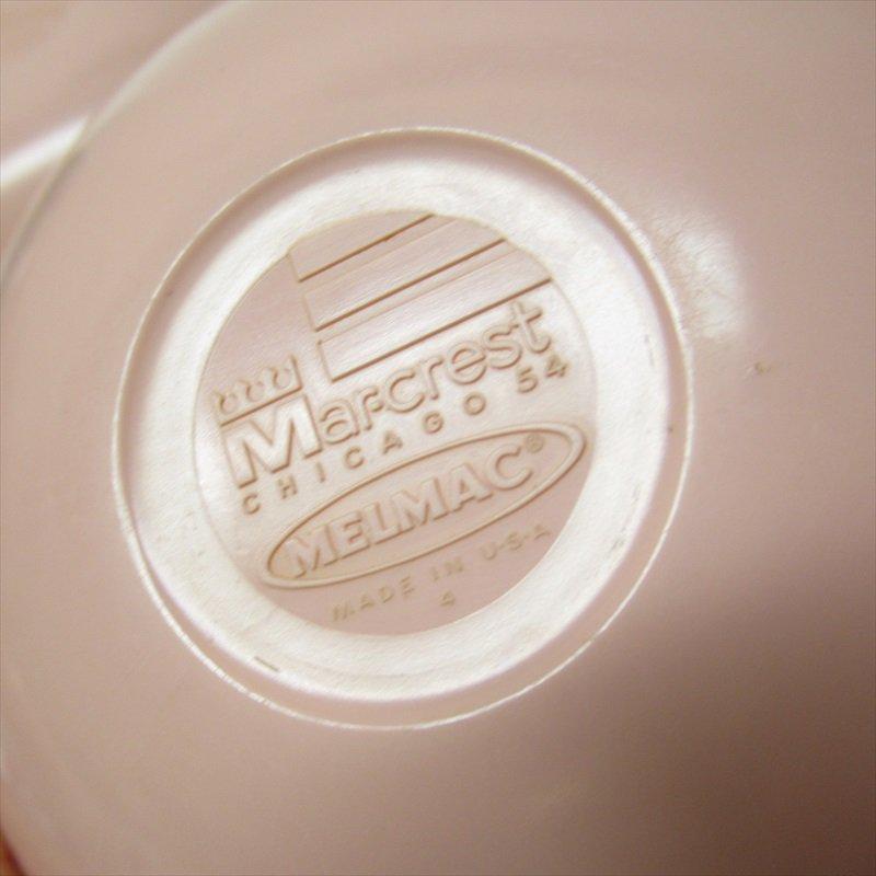 メラミン食器 ミッドセンチュリー Mar-Crest メルマック ピンクサラダボウル 2個セット【画像11】