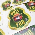 ヴィンテージ雑貨  スモーキーベア オフィシャルグッズ 並行輸入品 ONLY YOU スモーキーフェイス 緑 ステッカー