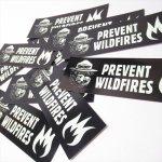 ヴィンテージ雑貨  スモーキーベア オフィシャルグッズ 並行輸入品 蓄光タイプ Prevent Wildfire ステッカー