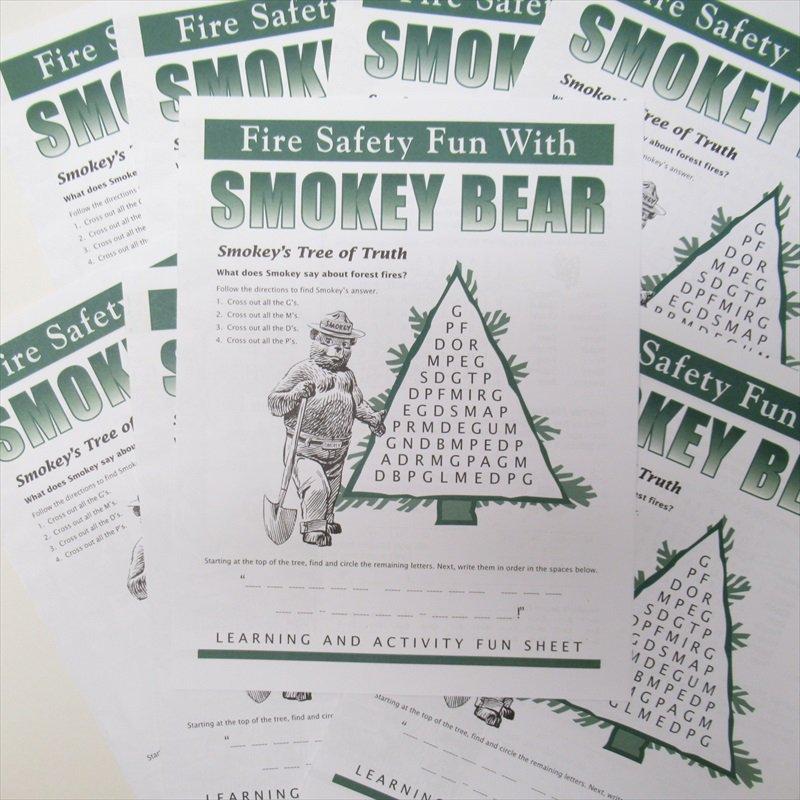 スモーキーベア オフィシャルグッズ 並行輸入品 Smokey's Fun Sheet