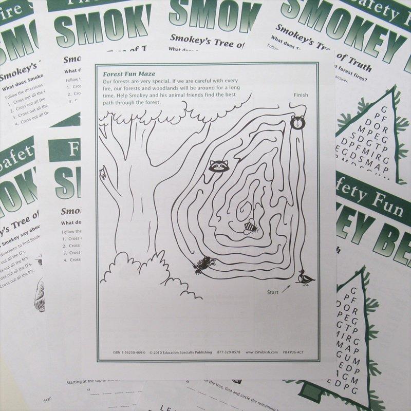 スモーキーベア オフィシャルグッズ 並行輸入品 Smokey's Fun Sheet【画像3】