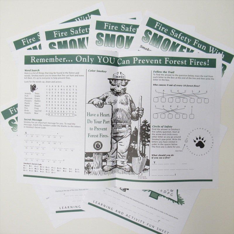 スモーキーベア オフィシャルグッズ 並行輸入品 Smokey's Fun Sheet【画像4】