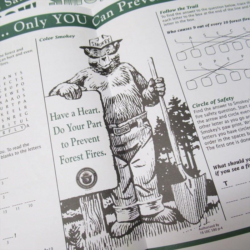 スモーキーベア オフィシャルグッズ 並行輸入品 Smokey's Fun Sheet【画像5】