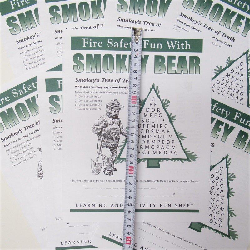 スモーキーベア オフィシャルグッズ 並行輸入品 Smokey's Fun Sheet【画像6】