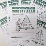 レストラン&企業系発行ブックス  スモーキーベア オフィシャルグッズ 並行輸入品 Smokey's Fun Sheet