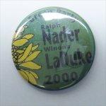 選挙  ヴィンテージ缶バッチ Ralph Nader 選挙