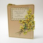 オーナメント&デコレーション  ヴィンテージカード イースター 1930年代〜50年代 Happy Easter 黄色のお花 使用済